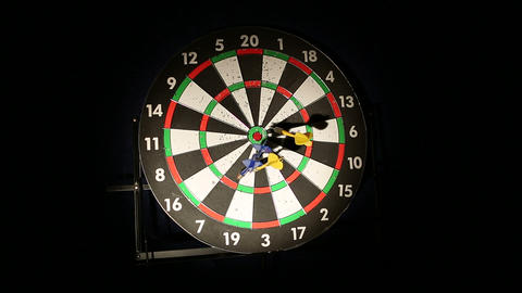 darts 01 Stock Video Footage