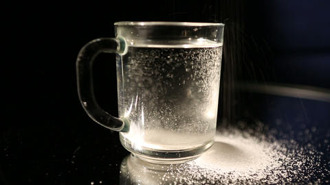 glass and sugar Stock Video Footage