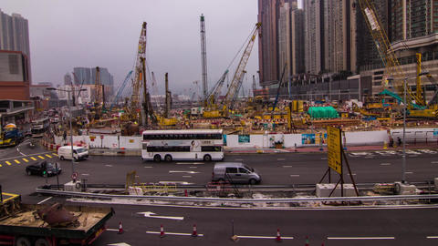 Construction site wide shot Footage