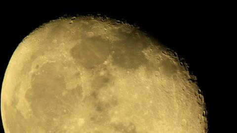 moon on the night the dark sky Stock Video Footage