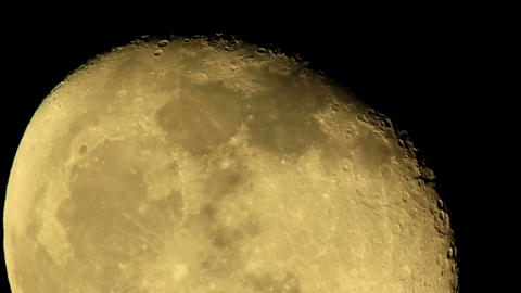 moon on the night the dark sky Stock Video Footage