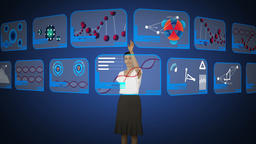 Businesswoman scrolling screens Animation