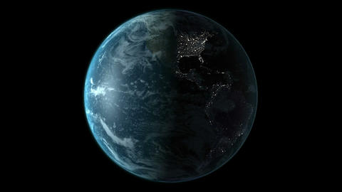 animation of spinning earth Animation