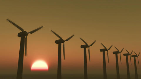 4k Windmill Turbines Clean At Sunrise timelapse,Green Wind Energy,new power Live Action