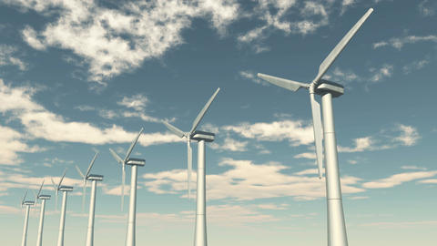 4k Windmill Turbines Clean,Green Wind Energy,new power,timelapse cloud Live Action