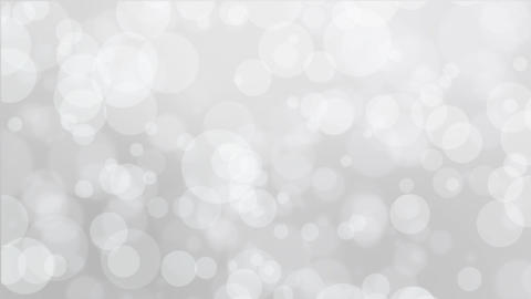 Silver white bokeh background Animation