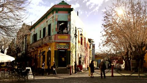 Caminito, In La Boca, Buenos Aires Argentina Footage