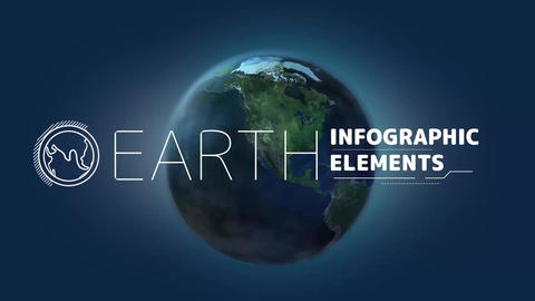 Earth Infographic Elements After Effects Template