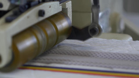 Technical detail of the movement of a gear of the ribbon sewing machine 18 Live Action
