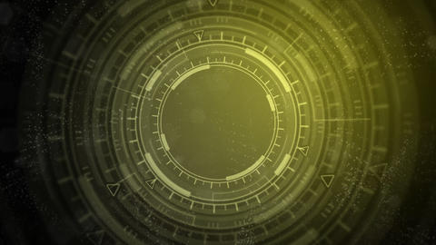 hi-tech abstract background of moving UI circles, technology concept Animation