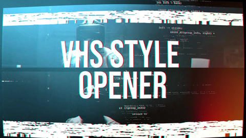 VHS Style Opener After Effects Template