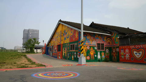 Outdoor gallery Rainbow village Footage