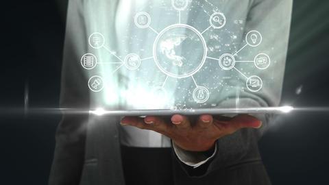 Businessman using digital tablet Stock Video Footage