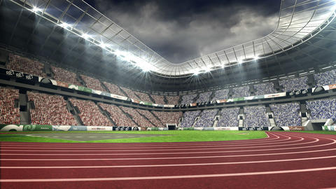 View of olympic stadium Footage