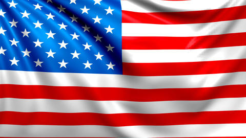 Flag of USA. Seamless looped video, America footage Animación