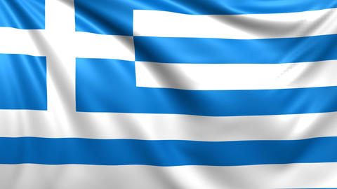 Flag of Greece. Seamless looped video, footage Animation