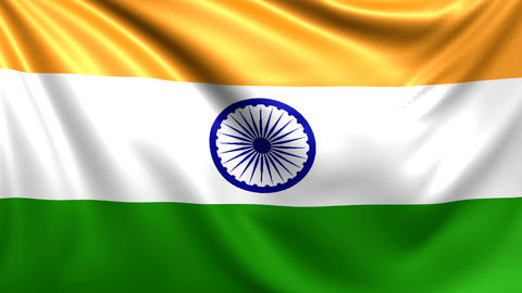 Flag of India. Seamless looped video, footage Animation