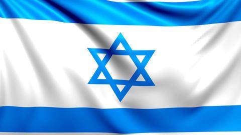 Flag of Israel. Seamless looped video, footage Animation
