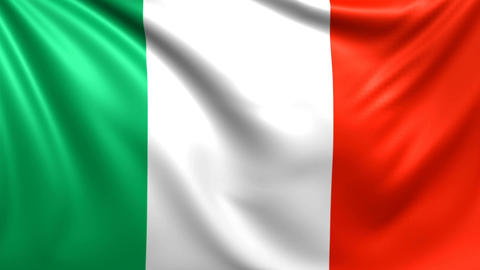 Flag of Italy. Seamless looped video, footage Animation