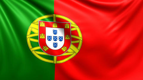 Flag of Portugal. Seamless looped video, footage Animation