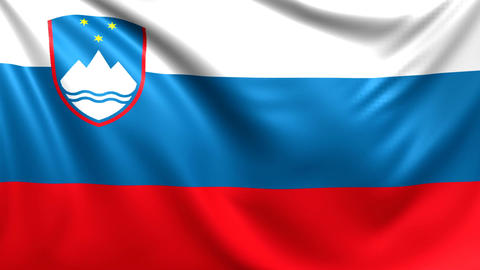 Flag of Slovenia. Seamless looped video, footage Animation