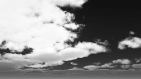 4k timelapse running clouds cover sun,black & white Footage