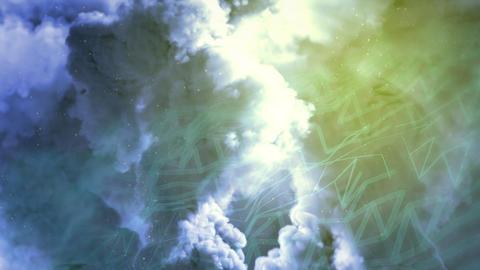 heavy bright pollution backdrop, cg industrial 3D rendering Animation