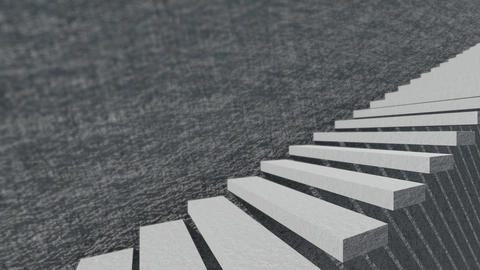 Stairs And Shade With Cement Wall 2 Animation