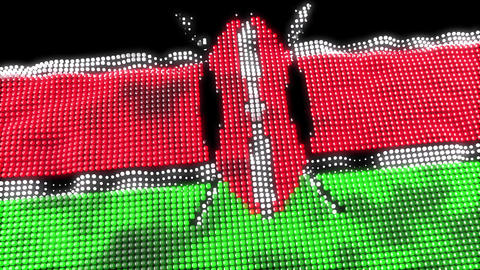 Kenya web concept flag loop Animation