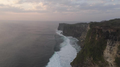 Rocks and sea Bali. Aerial view Live Action