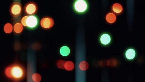 Night Lights Blur. Defocus Art of the night Live Action