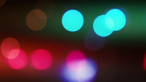 Abstract Bokeh ligths of the night Footage