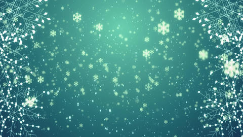 Snowflakes Loop 4K Background CG動画素材