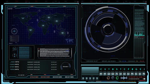 HUD hologram futuristic control screen Animation