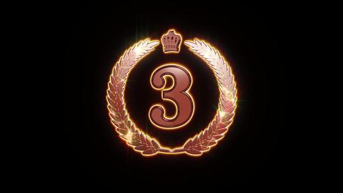 third bronze icon symbol animation Animation