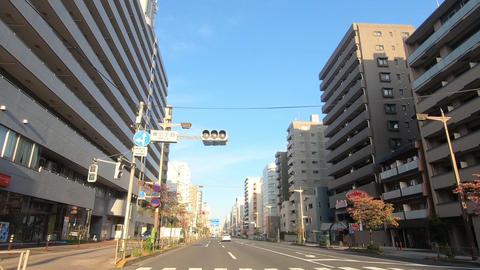Driving image of the city, near Tokyo and Koto Ward Live Action