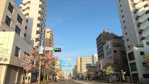 National highway in Tokyo. Running image Live Action