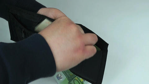 Man takes money Footage