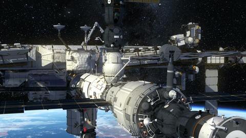 International Space Station Orbiting Earth Animation