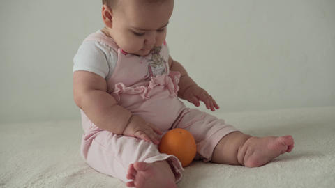 infant, childhood, food, first feeding, vitamins concept - joy happy funny Live Action