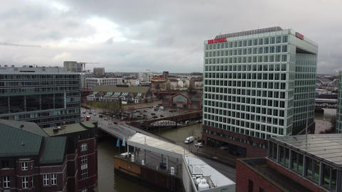 Famous Warehouse district in Hamburg Germany called Speicherstadt - HAMBURG Live Action