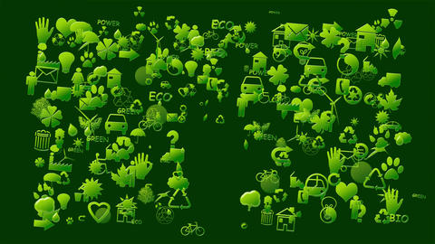 Animation made with ecological symbols Animation