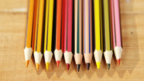 Close-up of colored pencil Footage