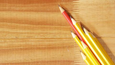 Close-up of various pencil Footage