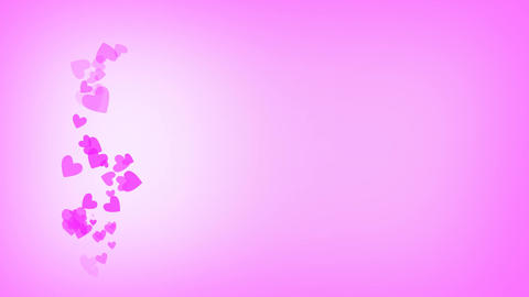 St Valentine's Day Pink Background For Love Cards Or Commercials 4K Animation