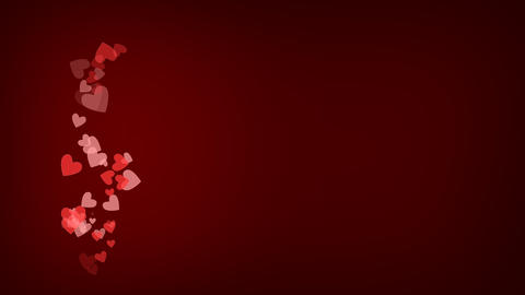 St Valentine's Day Red Background For Love Cards Or Commercials 4K Animation