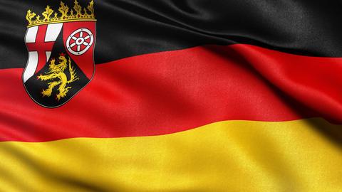 Rhineland Palatinate state flag seamless loop Stock Video Footage