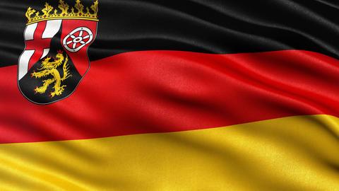 Rhineland Palatinate state flag seamless loop Animation