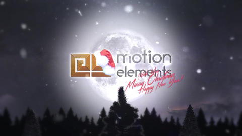 Christmas Tree Logo Intro After Effects Template
