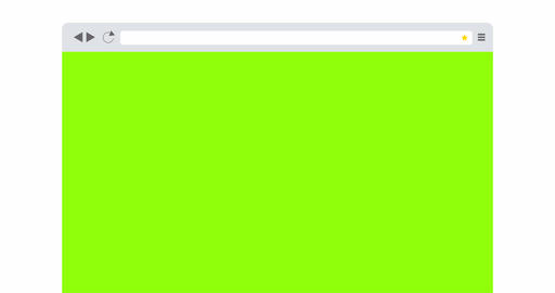 Browser Window With Blank Green Screen Animation